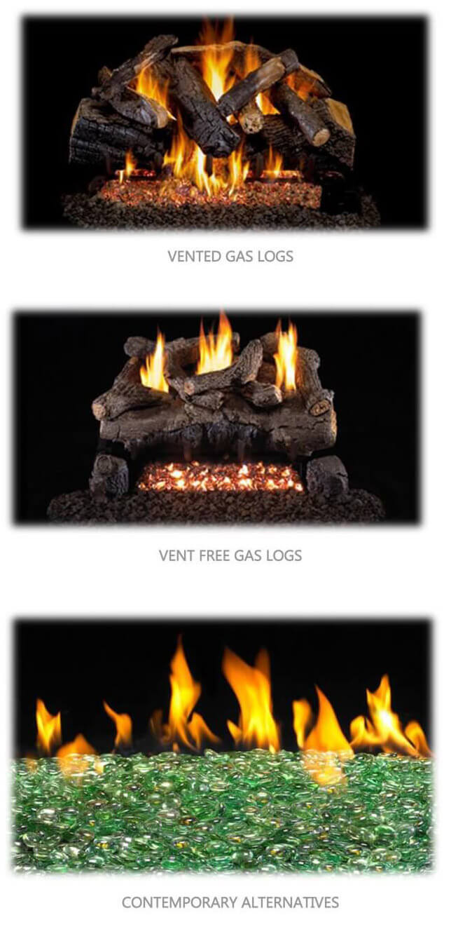 Gas Logs at Clayton Appliances